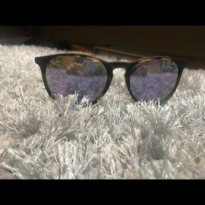 Polarized purple tent ray bans ! Tortoiseshell